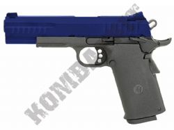 KP08 Tactical 1911 Replica Pistol Gas Blowback Hi Capa Airsoft BB Gun 2 Tone Metal Slide